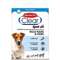 Bob Martin Clear Spot-on Solution 67mg For Small Dogs - 3 pipettes