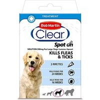 Bob Martin Clear Spot-on Solution 268mg For Large Dogs - 3 pipettes
