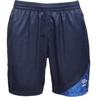 Umbro Mens Teamwear Woven Training Shorts Dark Navy/Royal