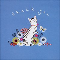 Woodmansterne Cat In The Flowers Thank-You Card