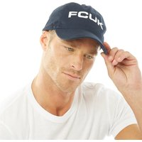 French Connection Mens FCUK Bold Washed Cotton Cap Marine