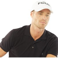 French Connection Mens FCUK Bold Washed Cotton Cap White