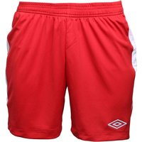 Umbro Mens Teamwear Match Poly Football Shorts Vermillion/White