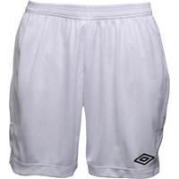 Umbro Mens Teamwear Match Poly Football Shorts White