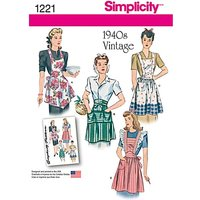Simplicity Craft Apron Sewing Pattern, 1221