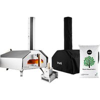 Ooni Pro Large Outdoor Pizza Oven, Cover, Burner and Pellets Set