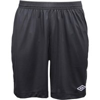 Umbro Mens Teamwear Match Poly Football Shorts Black/White