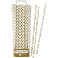 Talking Tables Mix & Match Gold Straws, Gold