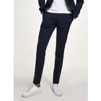 Mens Blue Gingham Check Ultra Skinny Suit Trousers, Blue