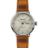 Ingersoll Men's The Trenton Radiolite Automatic Day Date Leather Strap Watch