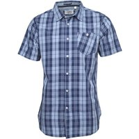 Kangaroo Poo Mens Checked Short Sleeve Shirt Blue/Navy
