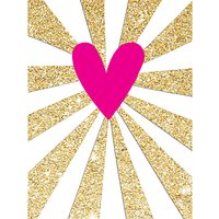 Rachel Ellen Neon Heart Notecards, Pack of 5
