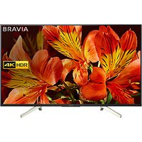 Sony Bravia KD49XF8505 LED HDR 4K Ultra HD Smart Android TV, 49 with Freeview HD & Youview, Black