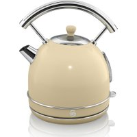 SWAN Retro SK34021BLN Traditional Kettle - Cream, Cream