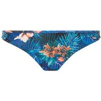 Womens *Dp Beach Blue Frill Tropical Print Bikini Bottoms- Blue, Blue