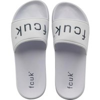 French Connection Mens Playa Pool Slide Sandals White