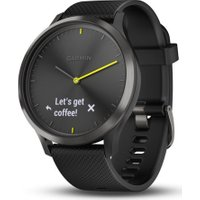 GARMIN vivomove HR Sport Hybrid Smartwatch - Black, Large, Black