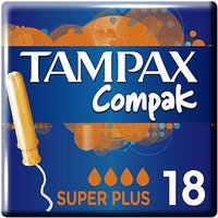 Tampax Compak Super Plus Tampons Applicator 18X