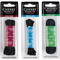 Cherry Blossom Round Shoe Laces, Black