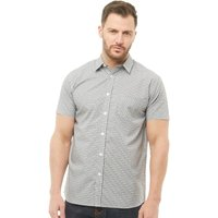 Onfire Mens Checked Short Sleeve Shirt Black/White
