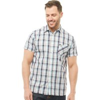 Onfire Mens Checked Short Sleeve Shirt White/Navy/Blue