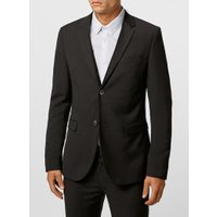 Mens Black Ultra Skinny Fit Suit Jacket, Black