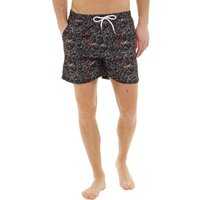Kangaroo Poo Mens Splatter Print Swim Shorts Black/Multi
