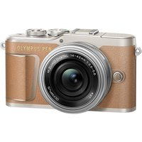 OLYMPUS PEN E-PL9 Mirrorless Camera with M.ZUIKO DIGITAL ED 14-42 mm f/3.5-5.6 EZ Lens - Brown, Brow