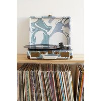 Crosley X UO Blue Marble Cruiser Briefcase Portable Bluetooth Vinyl Record Player, assorted