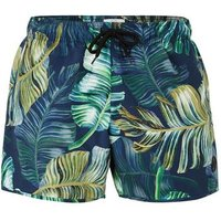 Mens Blue And Green Forest Swim Shorts, Blue