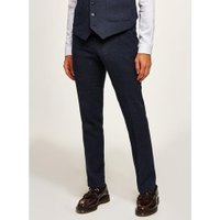 Mens FARAH Navy 'Kingsley' Trousers, Navy