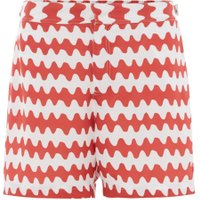 Men's Linea Squiggle Print Swim Shorts, Rust