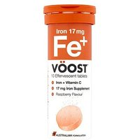 Voost Iron & Vitamin C - 10 Effervescent Tablets