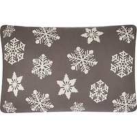John Lewis & Partners Knitted Snowflake Cushion, Storm