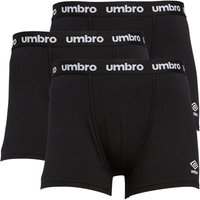 Umbro Mens Three Pack Pouch Boxers Black