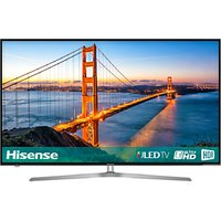 Hisense 50U7A ULED HDR 4K Ultra HD Smart TV, 50 with Freeview Play, Ultra HD Certified, Black/Silver