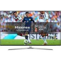 Hisense 55U7A ULED HDR 4K Ultra HD Smart TV, 55 with Freeview Play, Ultra HD Certified, Black/Silver