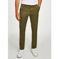 Mens Green Olive Skinny Smart Trousers, Green