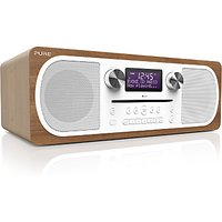Pure Evoke C-D6 DAB+/FM Bluetooth Stereo All-In-One Music System With Remote Control, Walnut