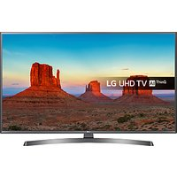 LG 55UK6750PLD LED HDR 4K Ultra HD Smart TV, 55 with Freeview Play/Freesat HD & Crescent Stand, Ultr