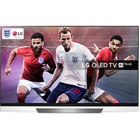 LG OLED65E8PLA OLED HDR 4K Ultra HD Smart TV, 65 with Freeview Play/Freesat HD, Picture-On-Glass Des