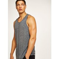 Mens Grey Charcoal Textured Vest, Grey