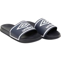 Umbro Mens Beach Pool Sliders Dark Navy/White