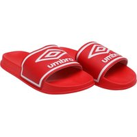 Umbro Mens Beach Pool Sliders Hibiscus Red/White