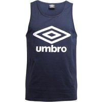 Umbro Mens Tropics Logo Vest Dark Navy/White