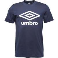 Umbro Mens Tropics Logo T-Shirt Dark Navy/White