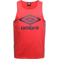 Umbro Mens Beach Taped Vest Hibiscus Red/Dark Navy