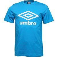 Umbro Mens Tropics Logo T-Shirt Hawaiian Blue/White
