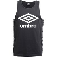 Umbro Mens Beach Taped Vest Black/White