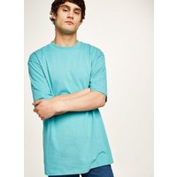 Mens Aqua Blue Oversized T-Shirt, Blue